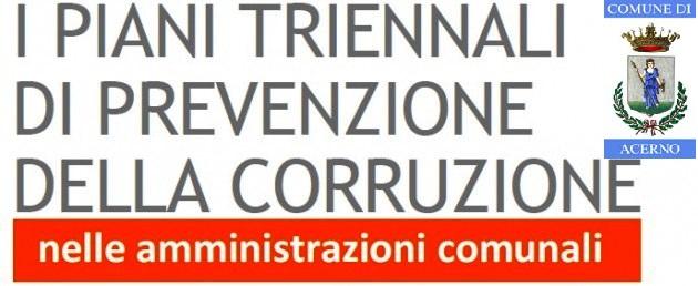 Piani triennali di prevenzione della corruzione